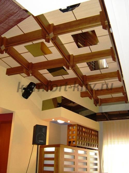 Декоративная балка на потолок своими руками из дерева 46